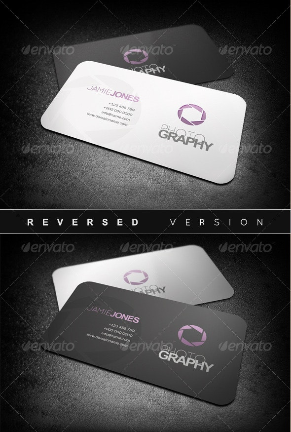 Photography Business Cards - Industry Specific Business Cards