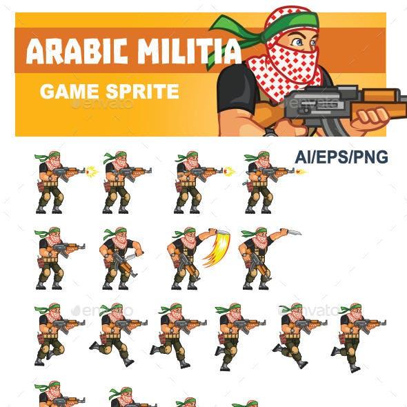 Arabic Militia Game Sprite