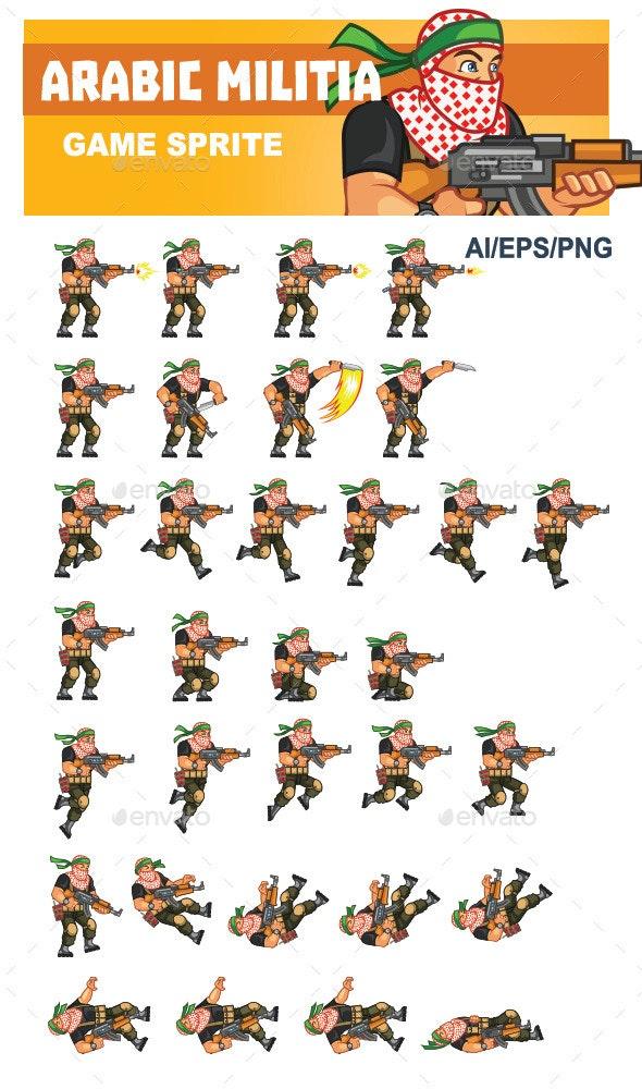 Arabic Militia Game Sprite - Sprites Game Assets