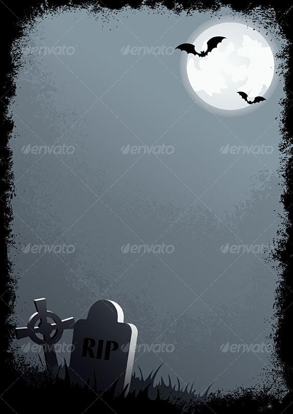 Halloween grunge border #1 - Halloween Seasons/Holidays