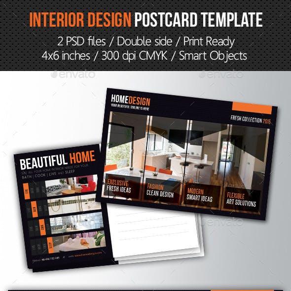 Interior Postcard Graphics Designs Templates