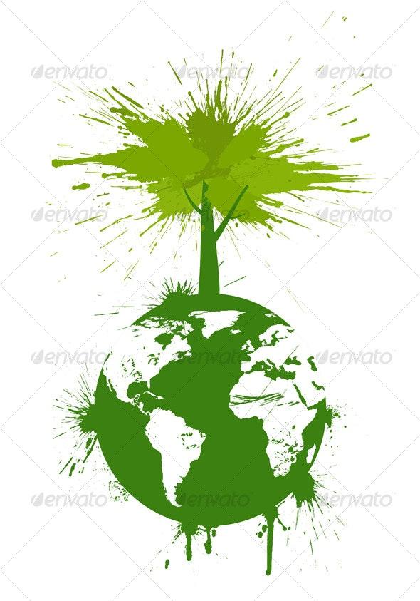 Green concept - Abstract Conceptual
