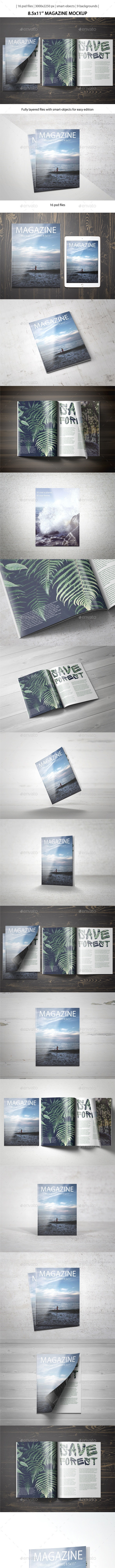 8.5x11 Magazine Mockup - Magazines Print
