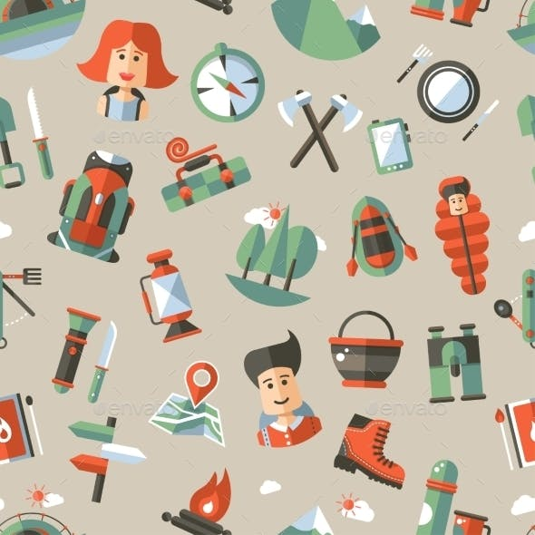 Camping and Hiking Pattern