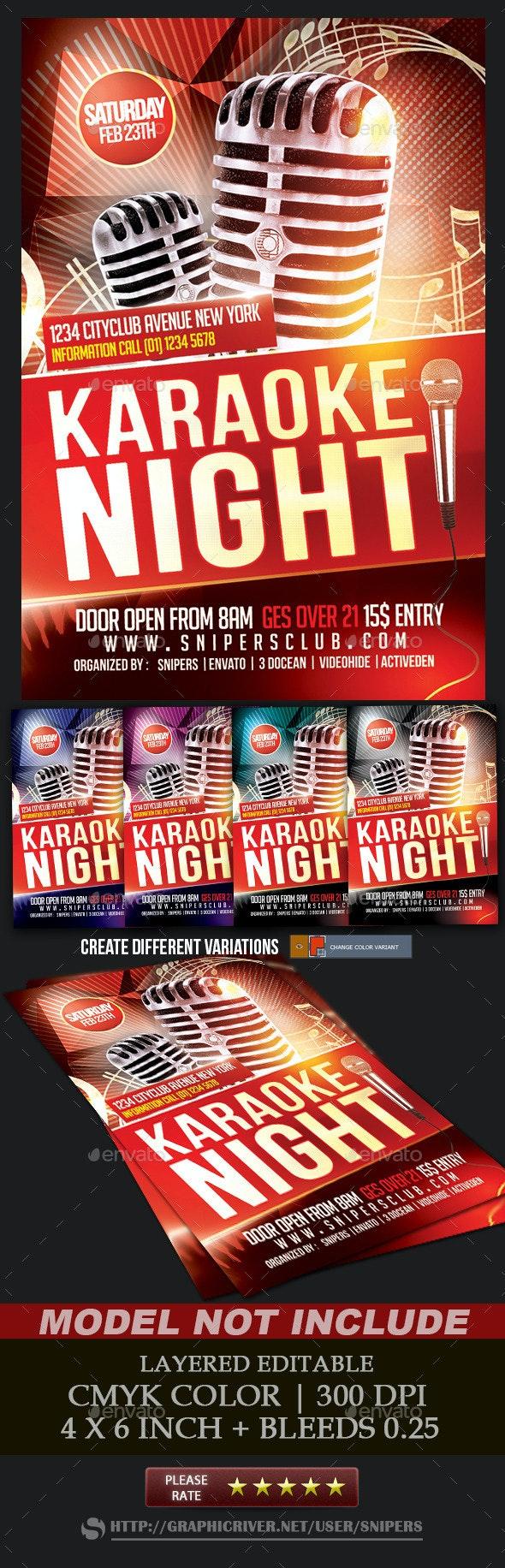 Karaoke Night Flyer - Events Flyers