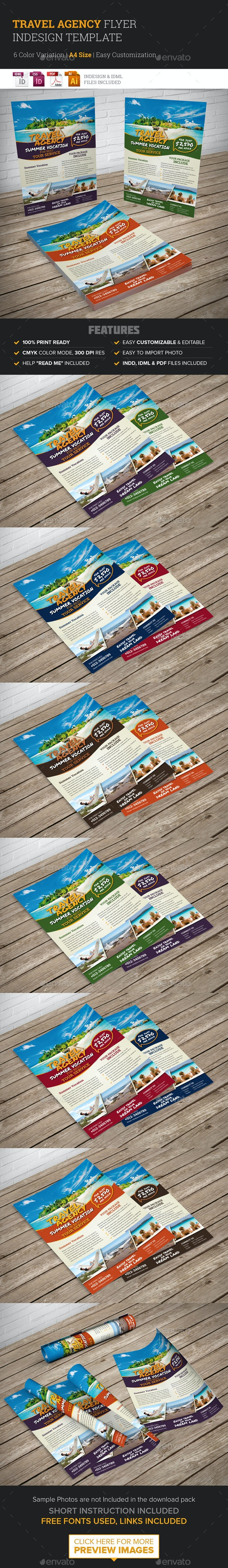 Travel Agency Flyer Indesign Template - Corporate Flyers