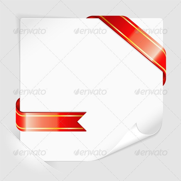 Sheet of white paper mounted in pockets - Borders Decorative