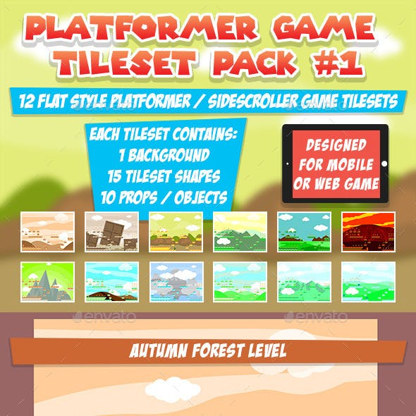 Platformer Game Tileset Pack #1