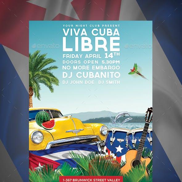 Viva Cuba Libre Flyer