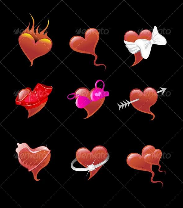 Sexy Heart Icon Set - Web Elements