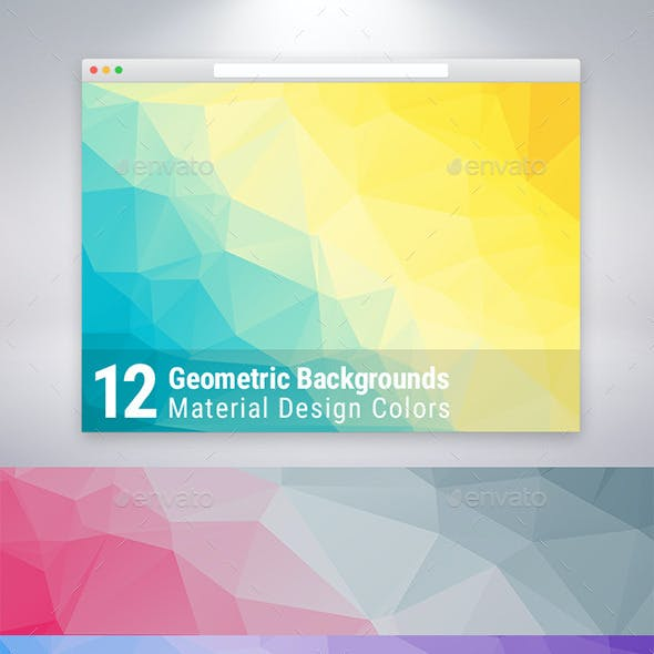 Material Design Geometric Backgrounds x12