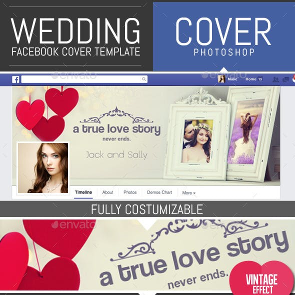 Wedding Frame Facebook Timeline Cover Template