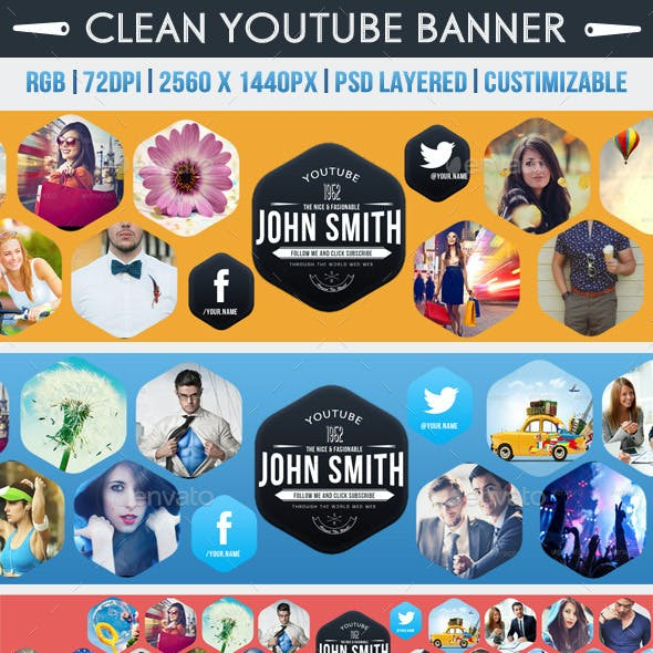 Clean Youtube Banner