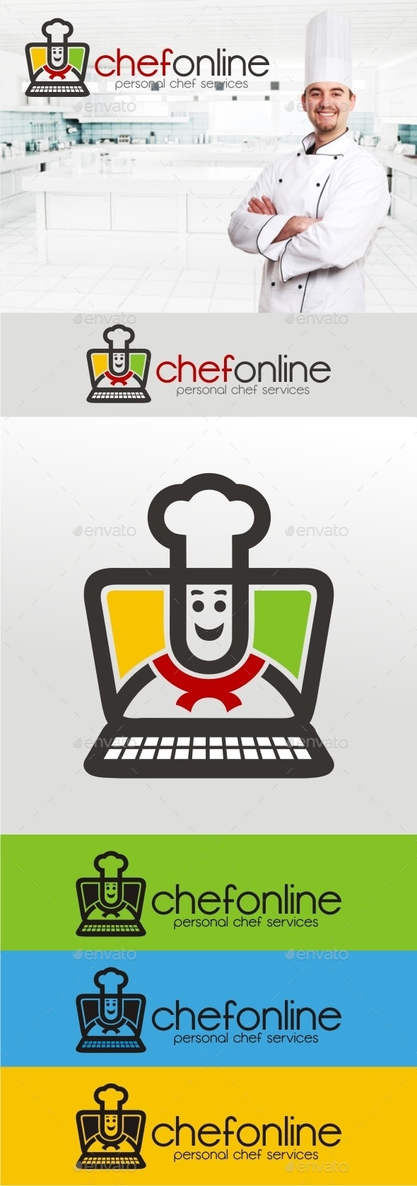 Chef Online V.2 - Humans Logo Templates