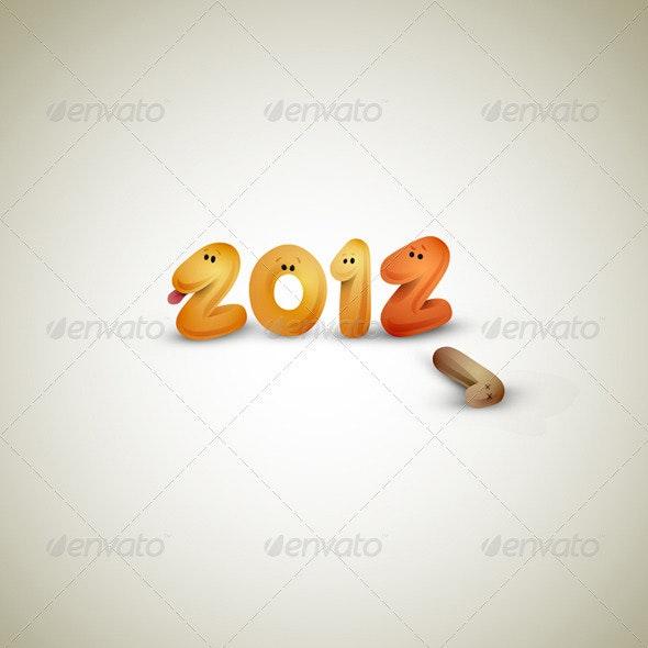 New Years Greeting Card - New Year Seasons/Holidays