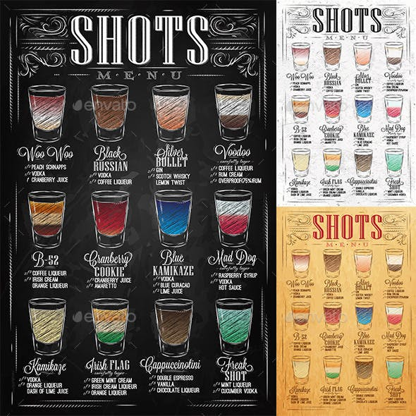 Set of Shots Menu