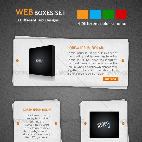 Web Boxes Set