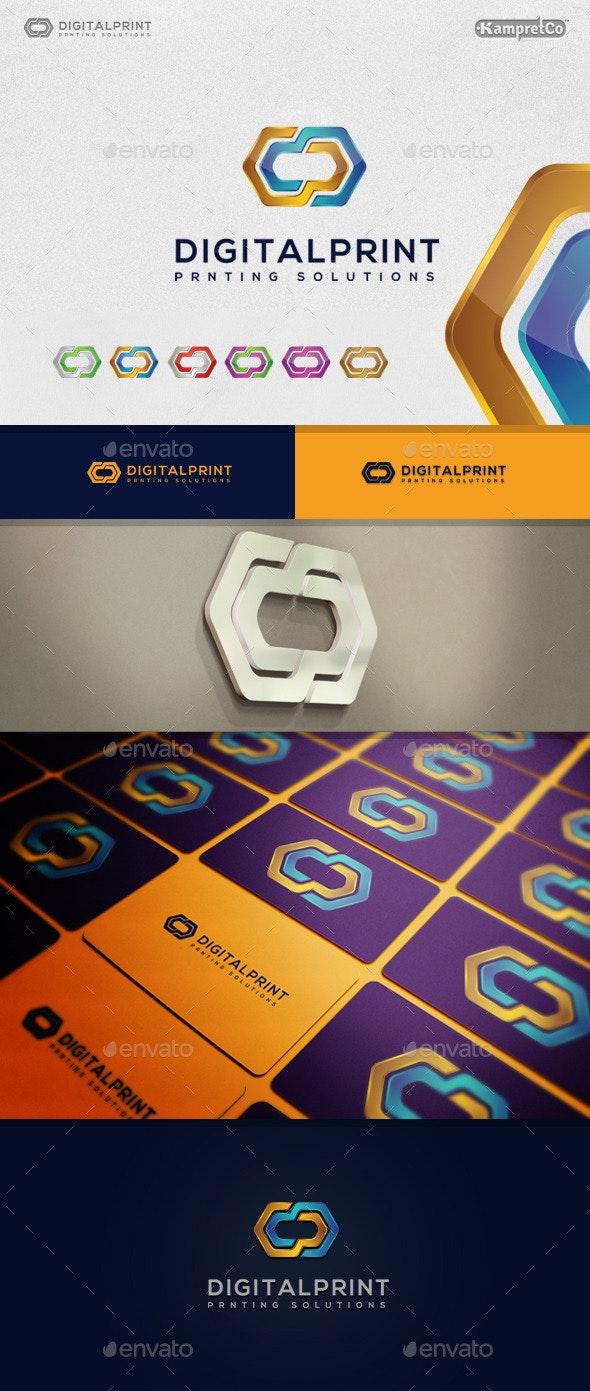 Digital Print Logo - Letters Logo Templates