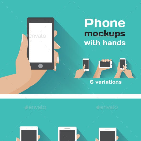 Smartphone Mockups with Hands