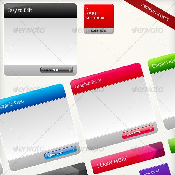 Colourful Web Elements