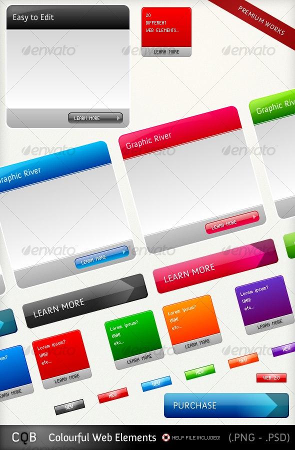 Colourful Web Elements - Miscellaneous Web Elements