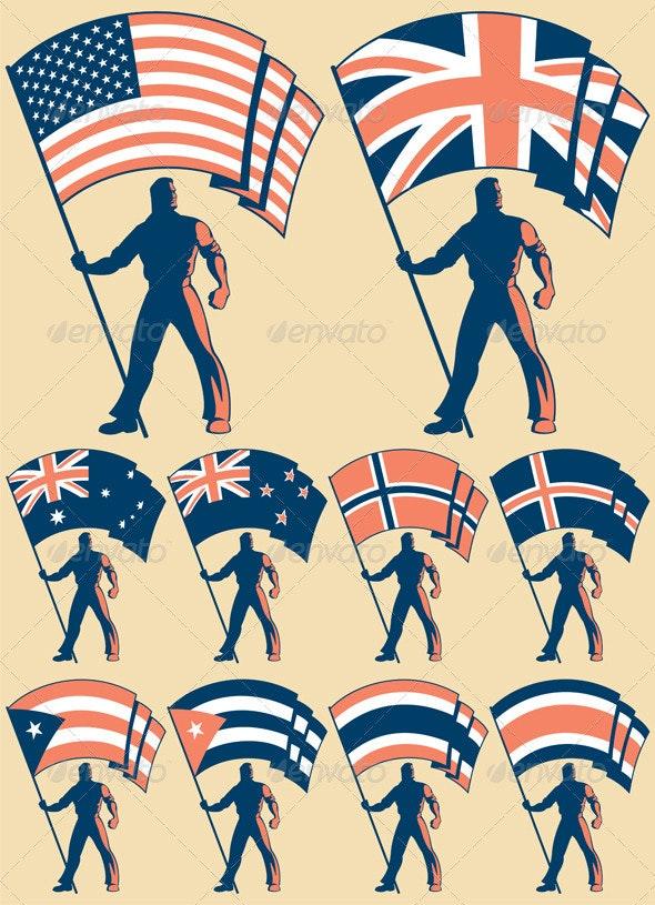 Flag Bearer 2 - People Characters