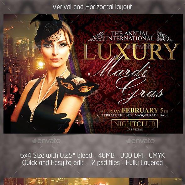 Luxury Mardigras Flyer