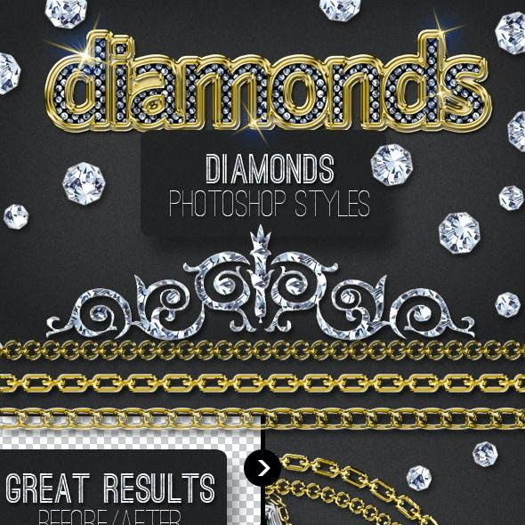 Bling Bling Diamond Photoshop Style Creator