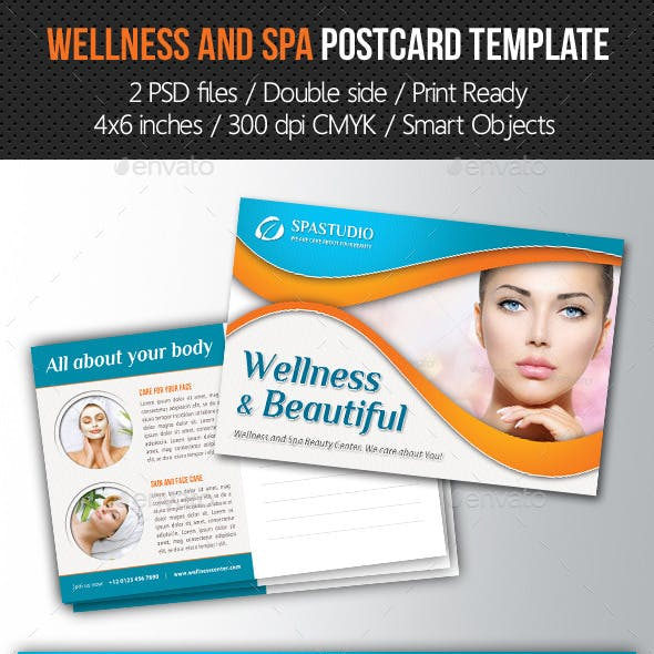 Wellness and Spa Postcard Template V01
