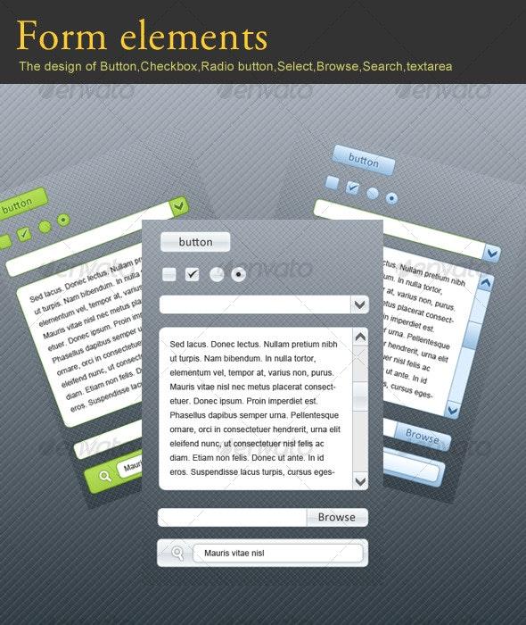 Form Elements - Forms Web Elements