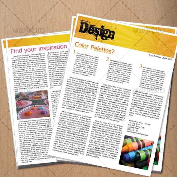 A Sophisticated Design Newsletter