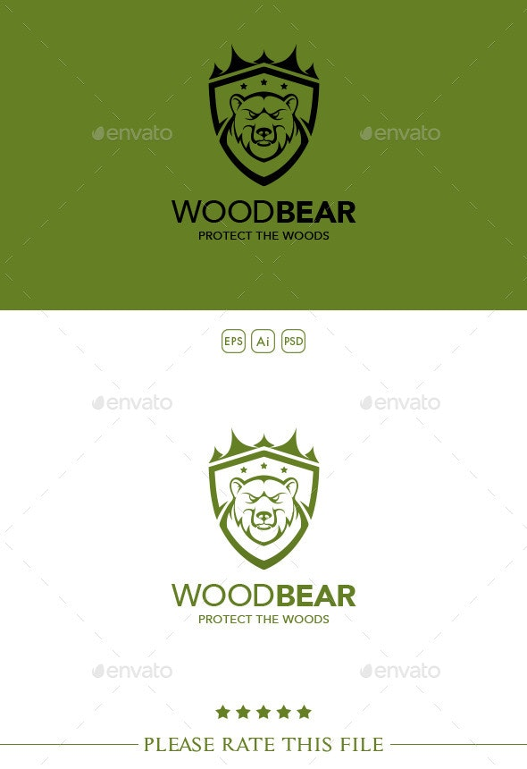 Bear Logo - Animals Logo Templates