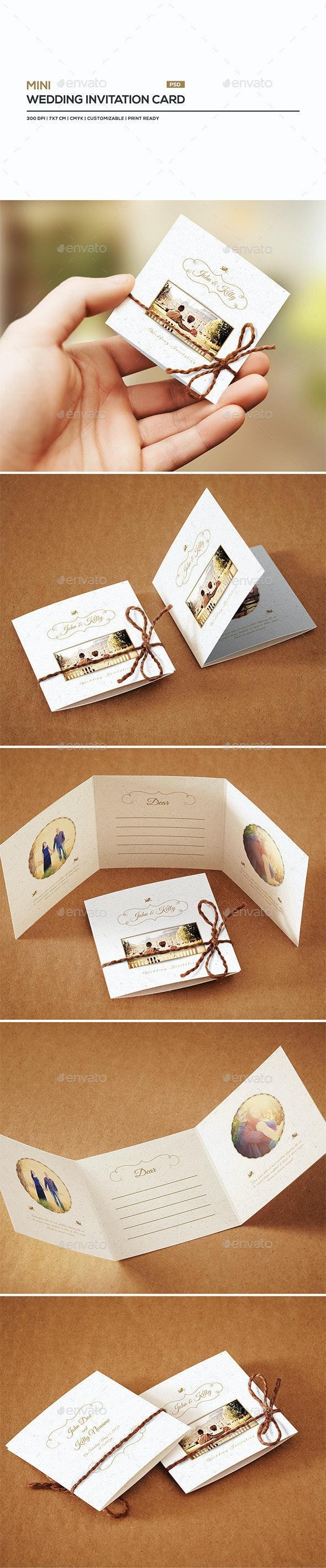 Mini Wedding Invitation Card by ShapShapy  GraphicRiver