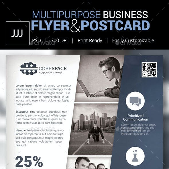 Business Flyer 44 with Postcard Option