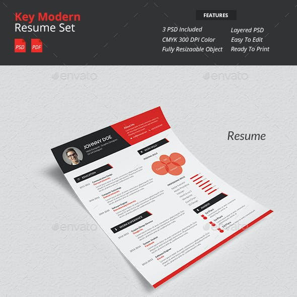Key - Modern Resume Set