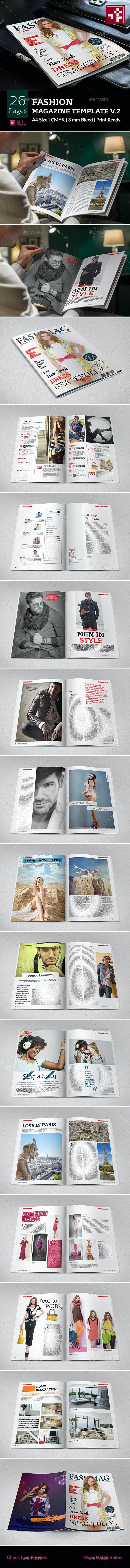 Fashion Magazine Template V.2 - Magazines Print Templates