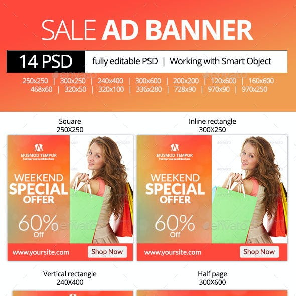 Weekend Special Offer Web Banners