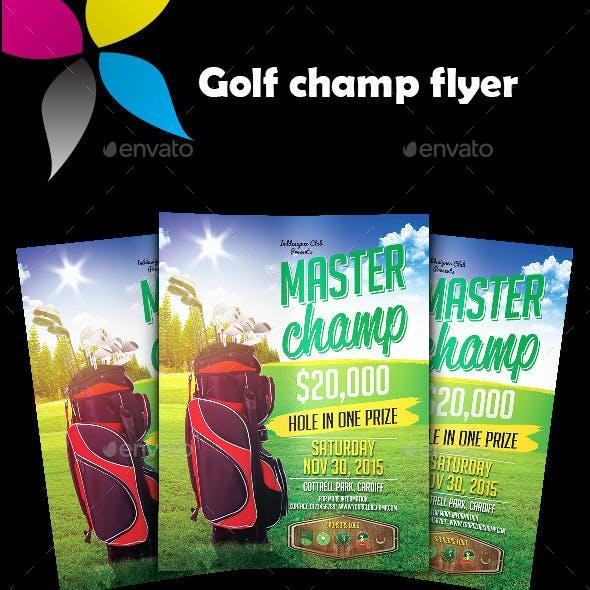 Golf Champ Flyer