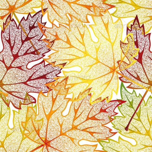 Autumn leaves - Patterns Decorative