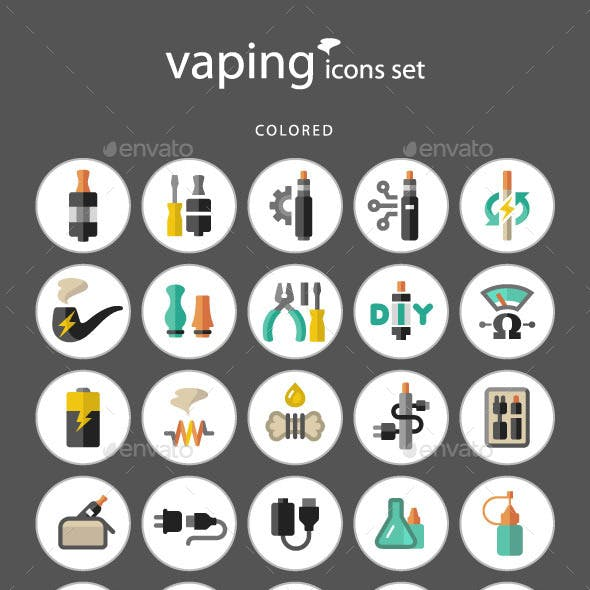 Vaping Icon Set