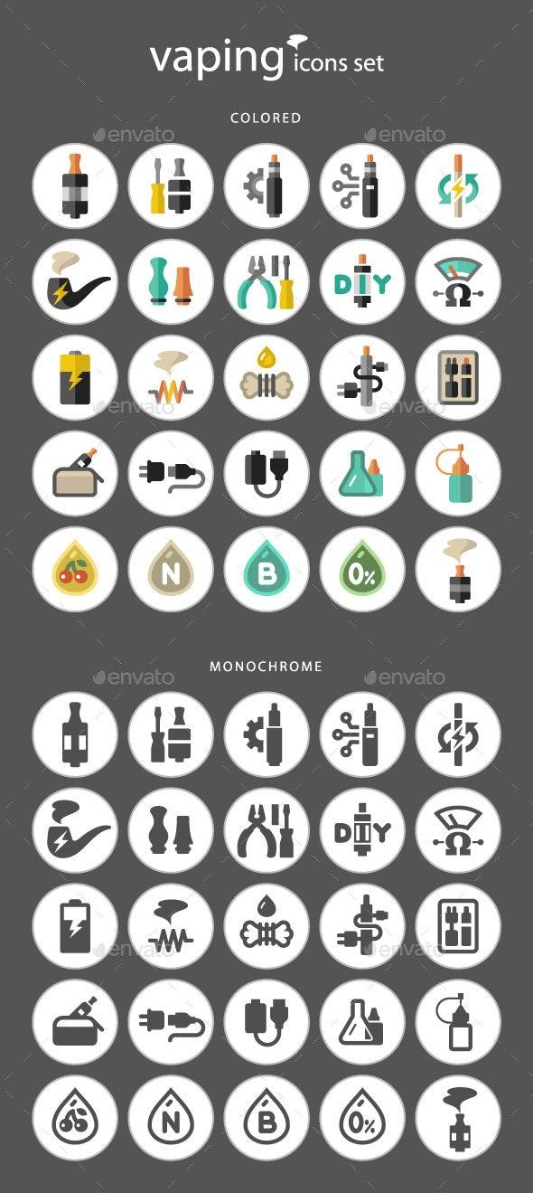 Vaping Icon Set - Icons