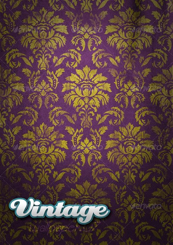 Vintage Wallpaper .07 - Backgrounds Graphics