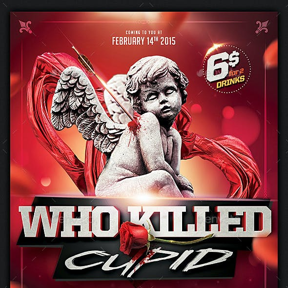 Who killed Cupid Valentines flyer