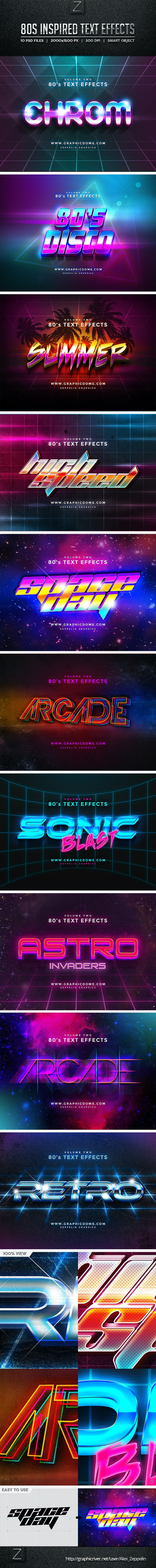 80s Text Effects - Text Effects Styles