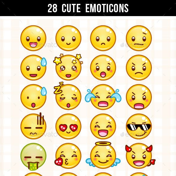 28 Cute Emoticons