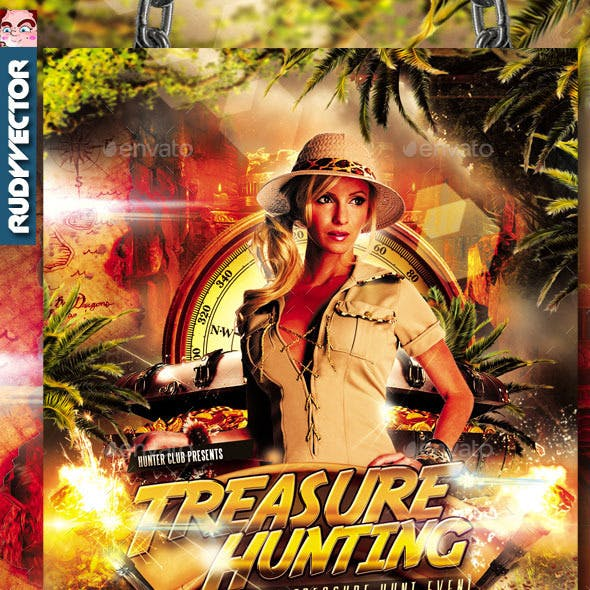 Treasure Hunt Scavenger Hunt Games Flyer