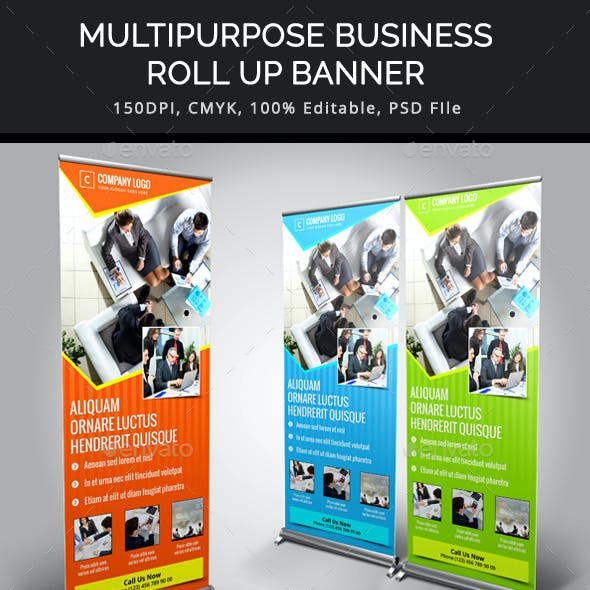 Multipurpose Business Roll Up Banner