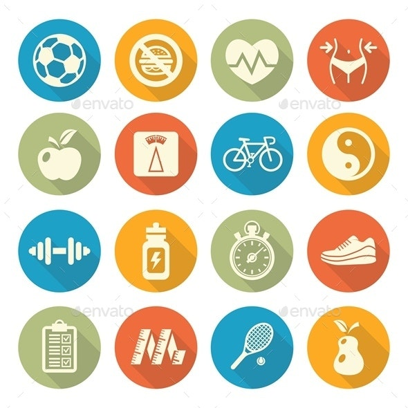 Health and Fitness Icons - Miscellaneous Icons