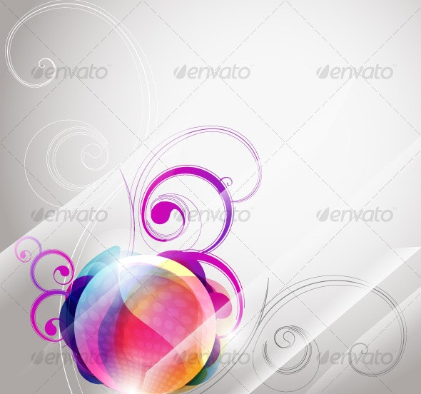 Abstract floral banner - Flourishes / Swirls Decorative