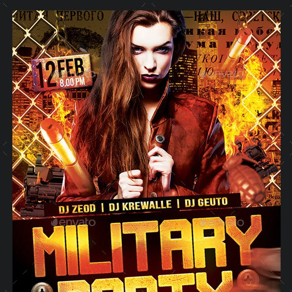Military Party Flyer